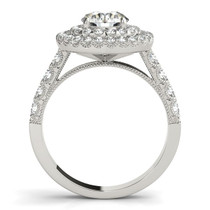 14k White Gold Diamond Engagement Ring With Double Pave Halo (2 5/8 Cttw) - 43684633