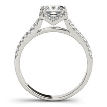 14k White Gold Princes Cut Halo Split Shank Diamond Engagement Ring (2 Cttw) - 43683564