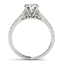 14k White Gold Prong Set Graduated Diamond Engagement Ring (1 7/8 Cttw) - 43683415