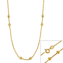 """14k Gold Filled Italian Diamond Cut Twisted Mirror Box Beaded Chain Necklace 16"""" 18"""" 20"""" 24"""" - 29782984"""