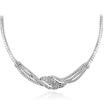 1/4 Ct Diamond Twist Frontal Necklace