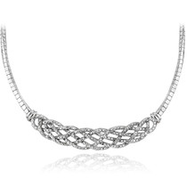 1/4 Ct Diamond Weave Frontal Necklace