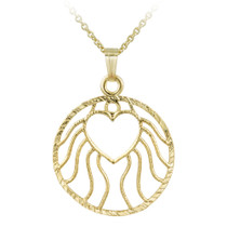 14k Gold Filled Round Heart Necklace