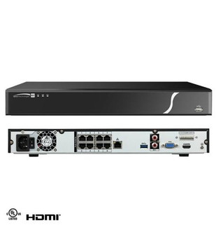 8 Ch Nvr With Poe, 200mbps, 4k , 8tb