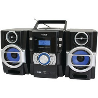 Naxa Portable Cd And Mp3 Player With Pll Fm Radio, Detachable Speakers  Remote