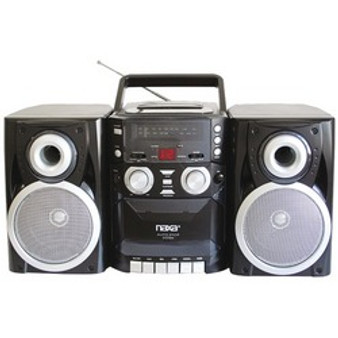 Naxa Portable Cd Player With Am And Fm Radio, Cassette  Detachable Speakers