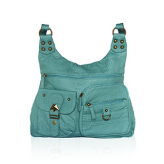 Afonie Washable Women's Fashion Shoulder Bags Leather Crossbody Bags Casual Messenger Bag
