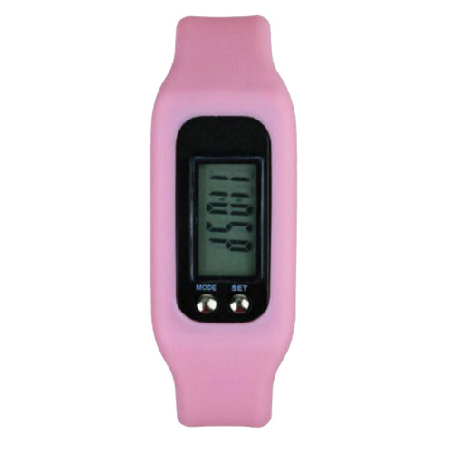 Pedometer For Walking Step Counter Sports Watches Fitness Trackers Fit Band Pink