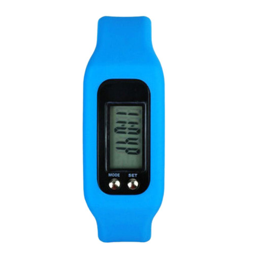 Pedometer For Walking Step Counter Sports Watches Fitness Trackers Fit Band Blue