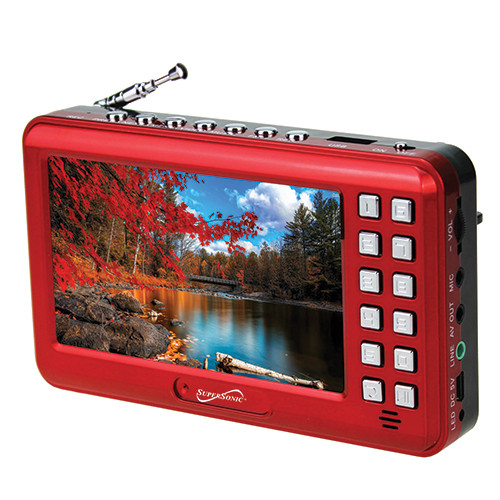"""4.3"""" Portable Media Player W/ Voice Amplifier Red"""