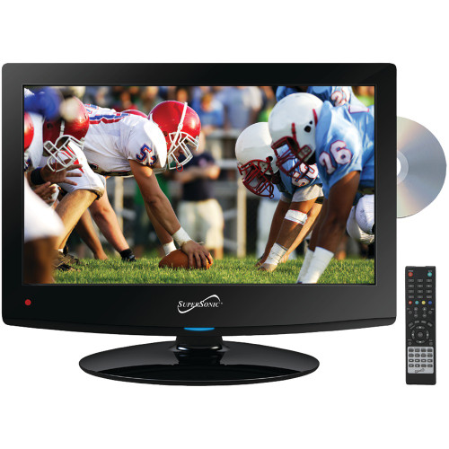 """Supersonic Sc-1512 15.6"""" 720p Led Tv/dvd Combination, Ac/dc Compatible With Rv/boat"""