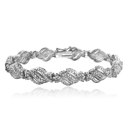 1/4 Ct Diamond Twist Bracelet