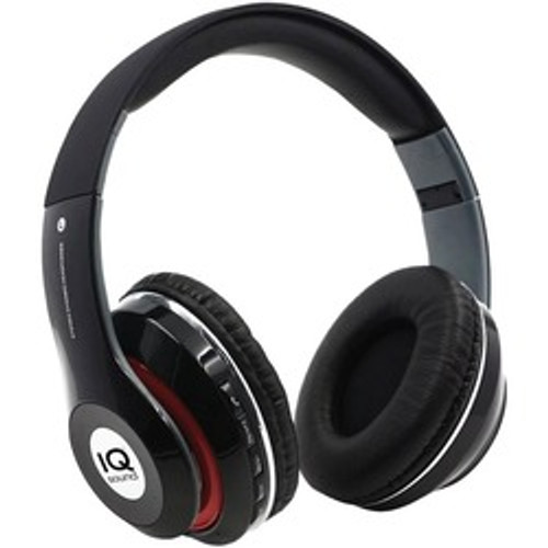 Iq Sound Bluetooth Over-ear Headphones With Microphone (black)
