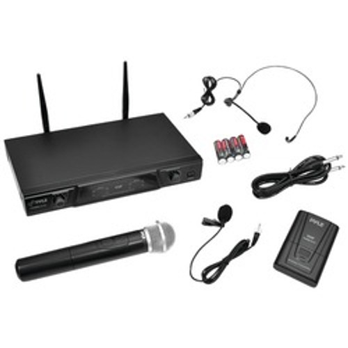 Pyle Pro Vhf Wireless Microphone Receiver System With Independent Volume Control