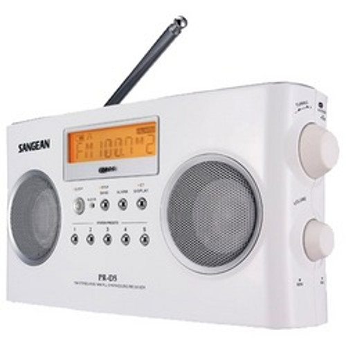 Sangean Digital Portable Stereo Receivers With Am And Fm Radio (white)