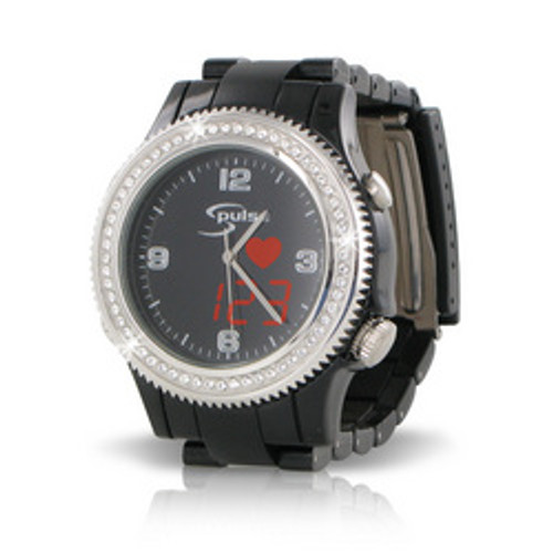 Fashion S-pulse Heart Rate And Dual Time Zone Watch With Large Led Readout