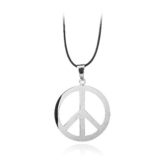 Stainless Steel Peace Necklace