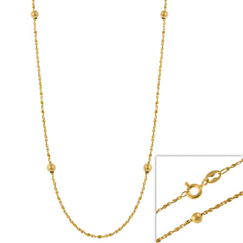 "14k Gold Filled Italian Twisted Serpentine Beaded Chain Necklace 16"" 18"" 20"" 24"" - 29782966"