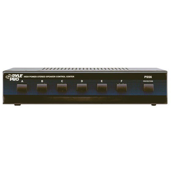 Pyle Pss6 High-power Stereo Speaker Selector (6 Channels)