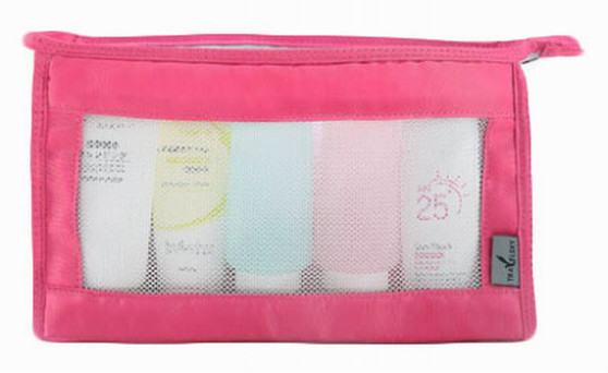 Quick Dry Mesh Shower Caddy Shower Tote Shower Bag For Travel, Rose-red