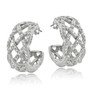 1/4 Ct Diamond Weave Half Hoop Earrings