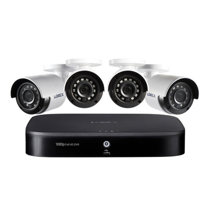 Lorex dp181-42nae 1080p full hd 8-channel security system with 1 tb dvr and four 1080p night vision bullet cameras with smart home voice control