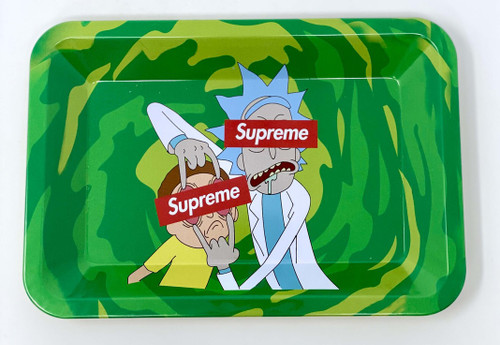 Rick & Morty Supreme Mini Rolling Tray | Free Smoke Vape and Smoke Shop