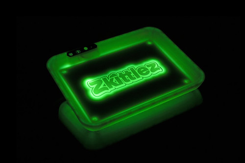 rolling trays, zkittlez, glow trays, led rolling tray, green