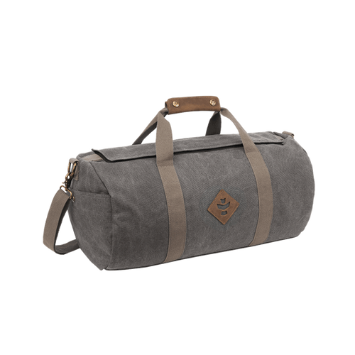 duffle bag, small duffle bag, revelry, revelry overnighter, ash