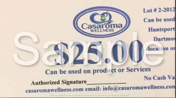 Casaroma Gift Certificate $25.00
