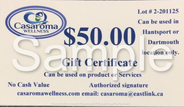Casaroma Gift Certificate $50.00