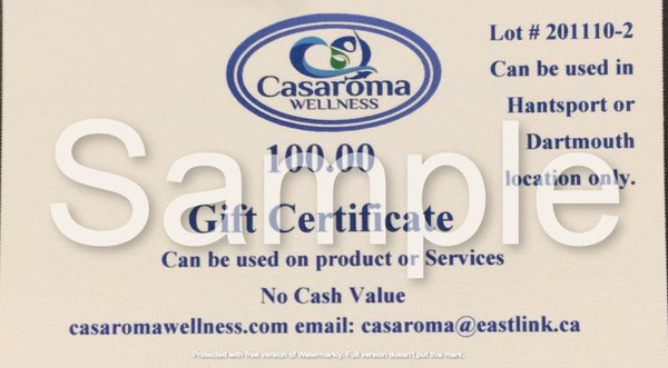 Casaroma Gift Certificate $100.00
