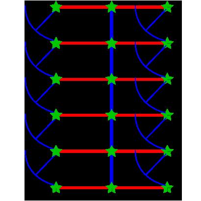 Back-to-back dog kennel layout