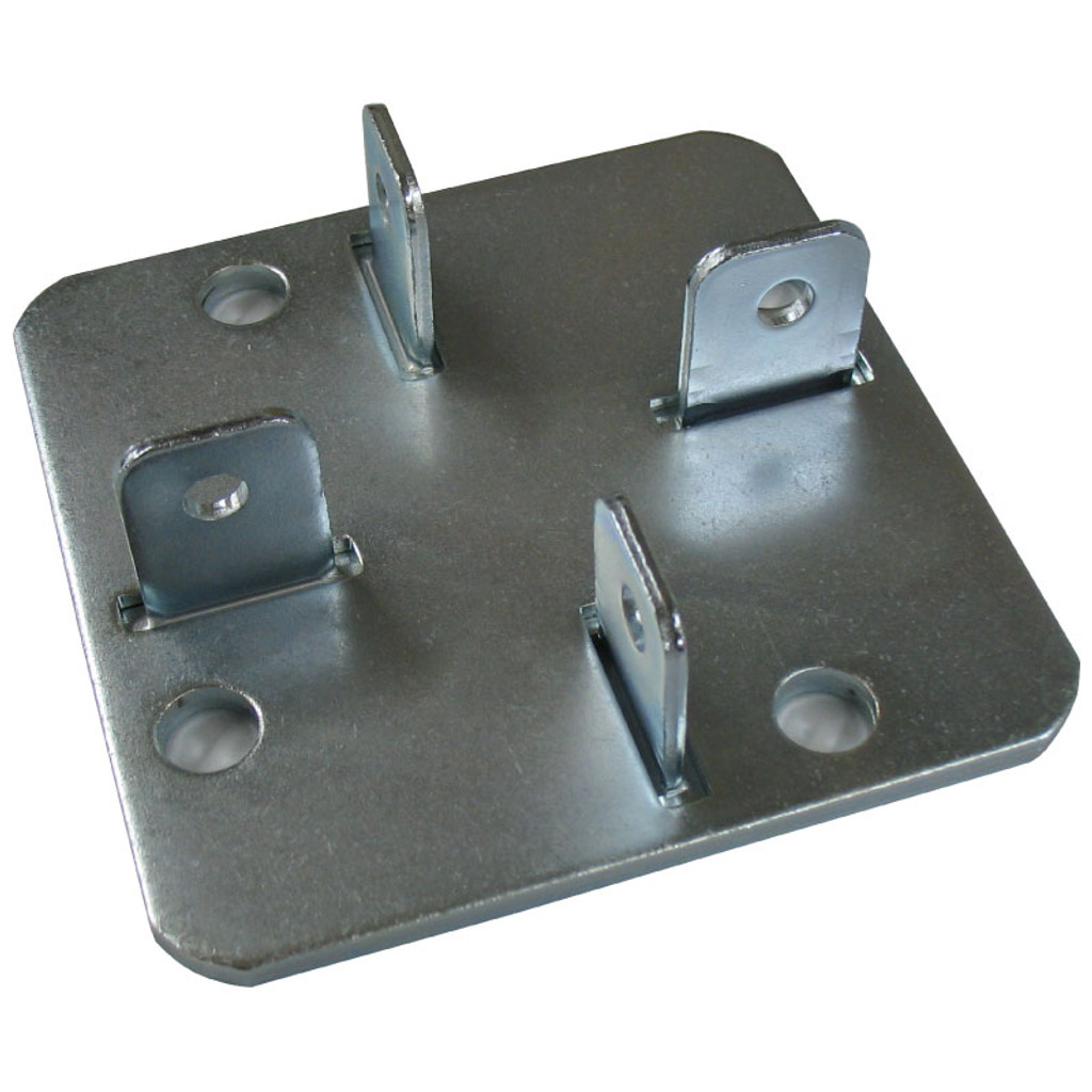 Metal post foot plate.