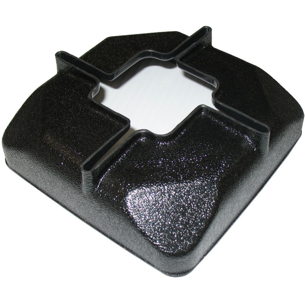 Plastic hardware cover for kennel posts.