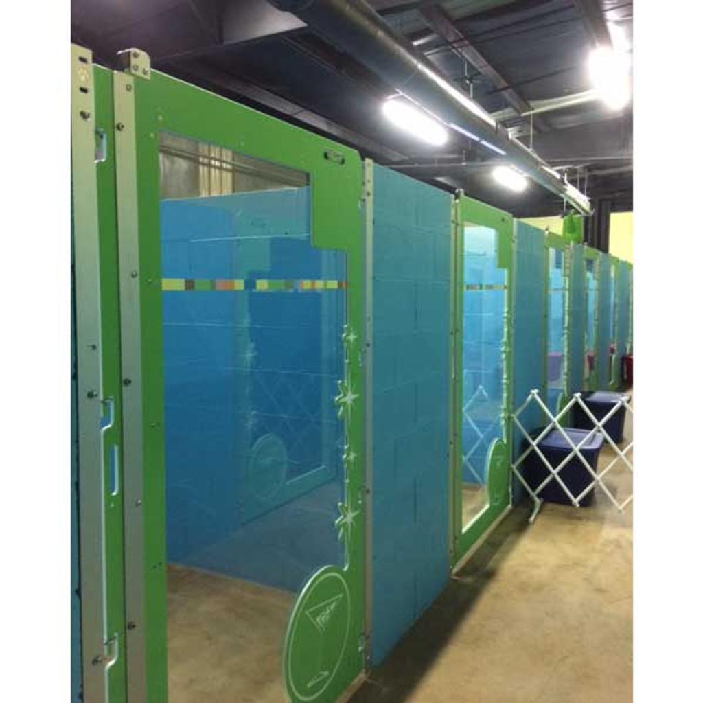 The Barker Lounge custom dog kennel gates.