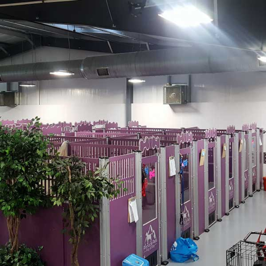 Pinnacle Pets custom dog kennels installed.