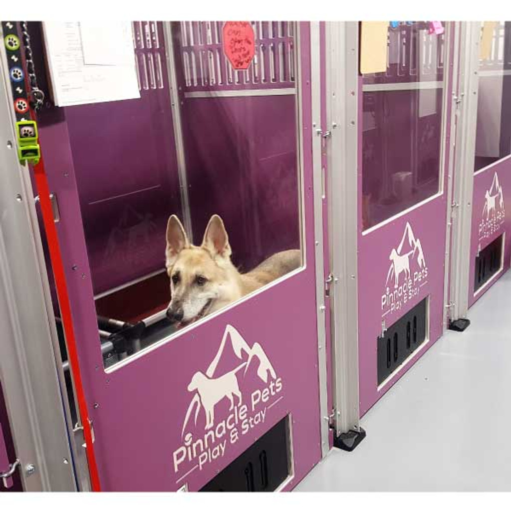Pinnacle Pets custom dog kennels.