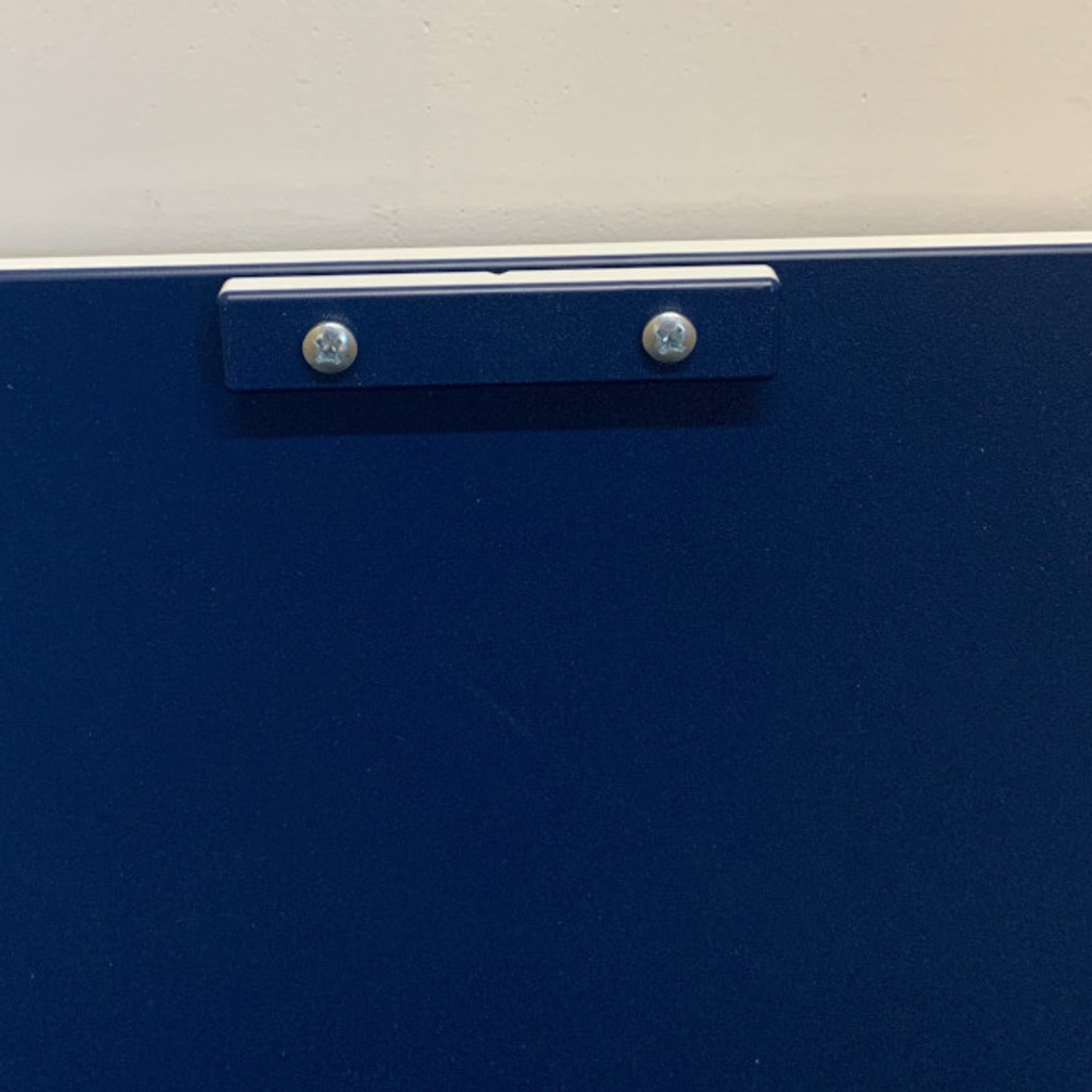 Navy Blue Transfer Gate system showing close up of handle.