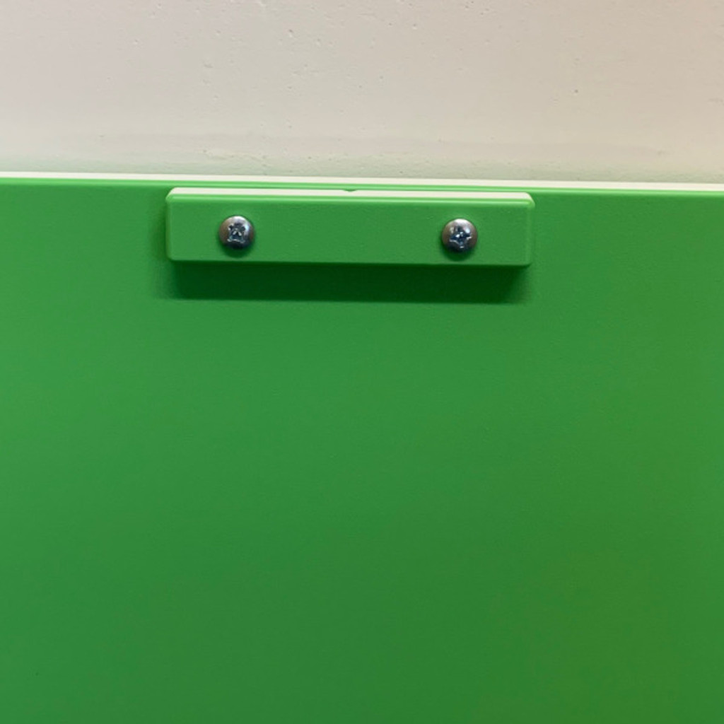 Lime Green Transfer Gate system showing close up of handle.