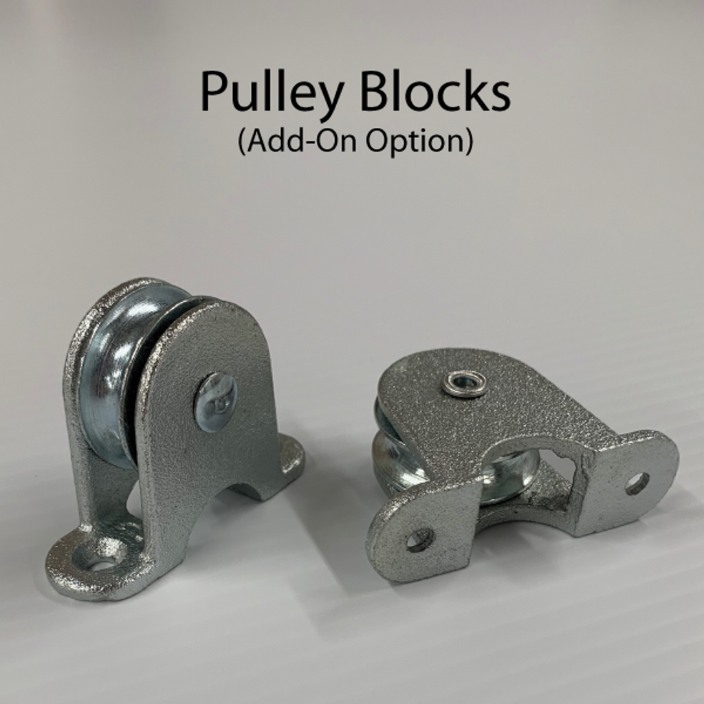 Transfer gate pulley blocks.
