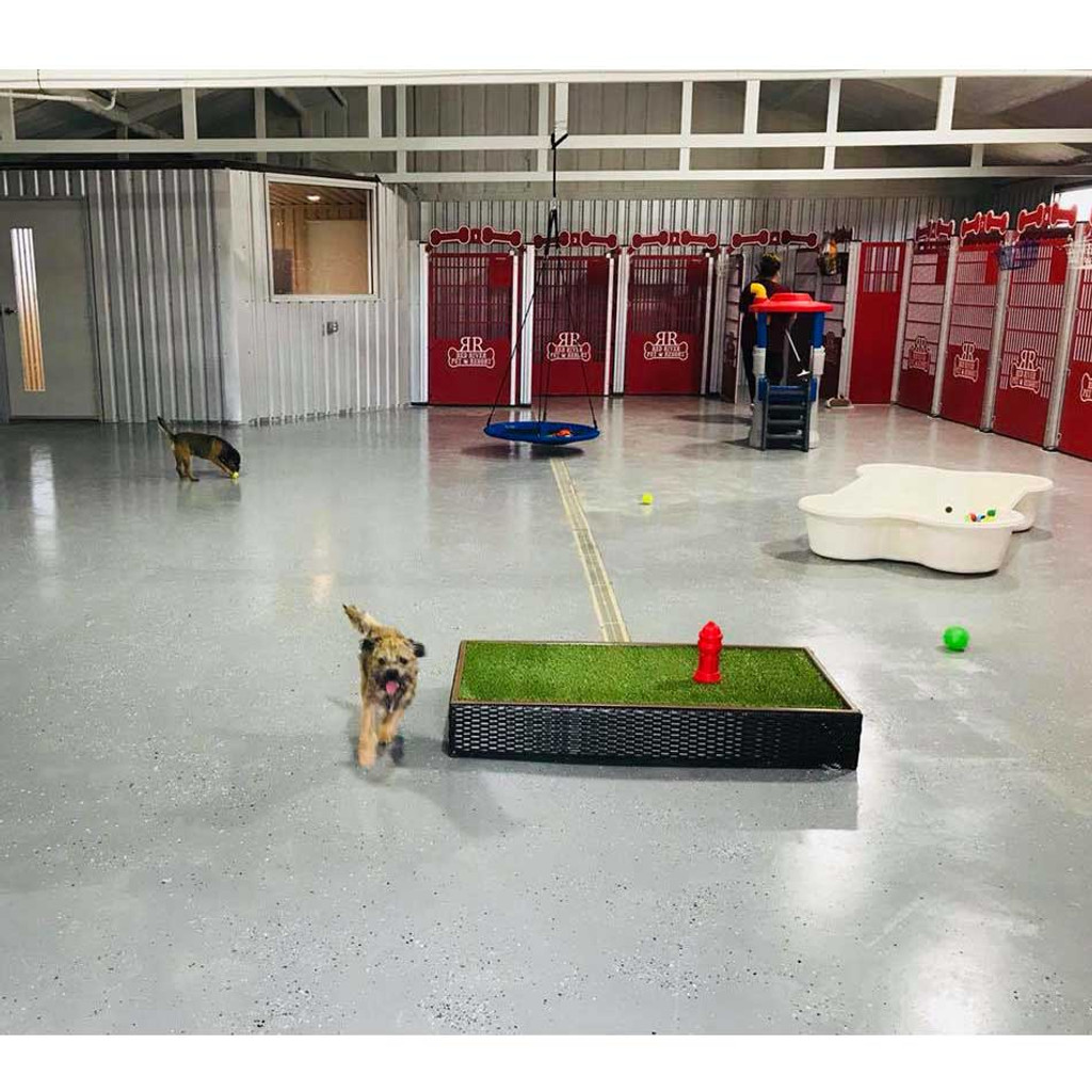 Red River Pet Resort using Gator Kennel's Signature Series custom dog kennels with play-yard area.