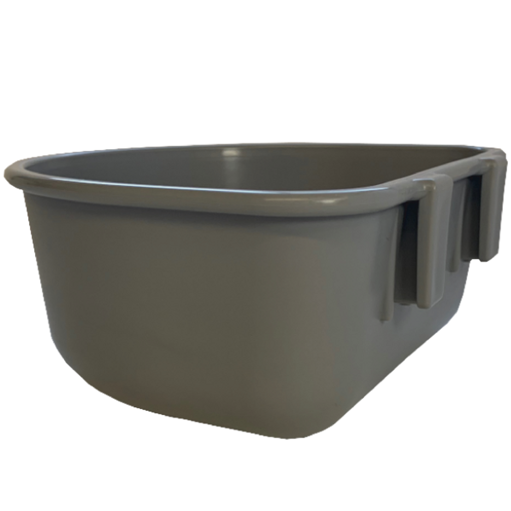 Gator Kennels dog bowl side view.