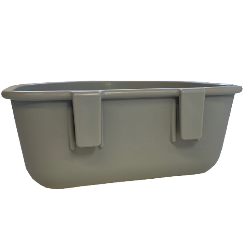 Gator Kennels dog bowl back view.