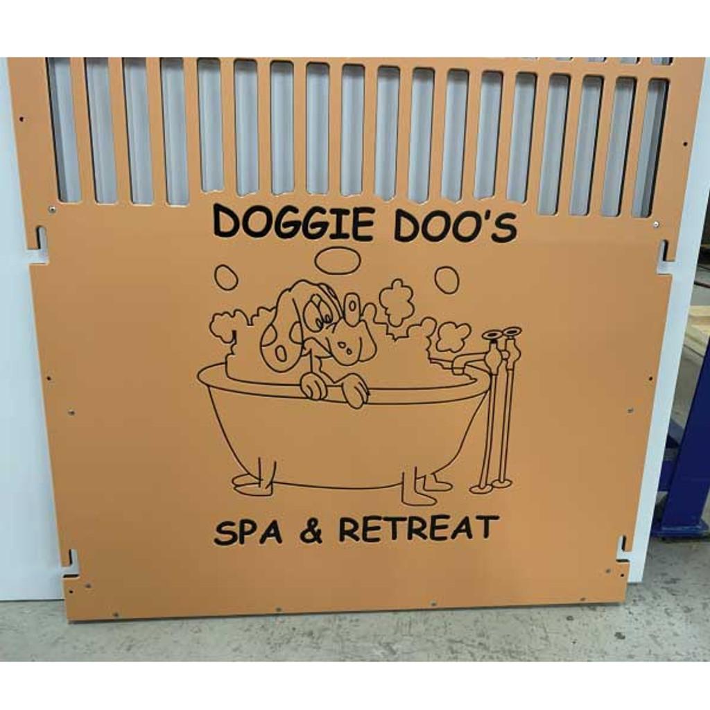 Doggie Doo's  Spa and Retreat custom logo.