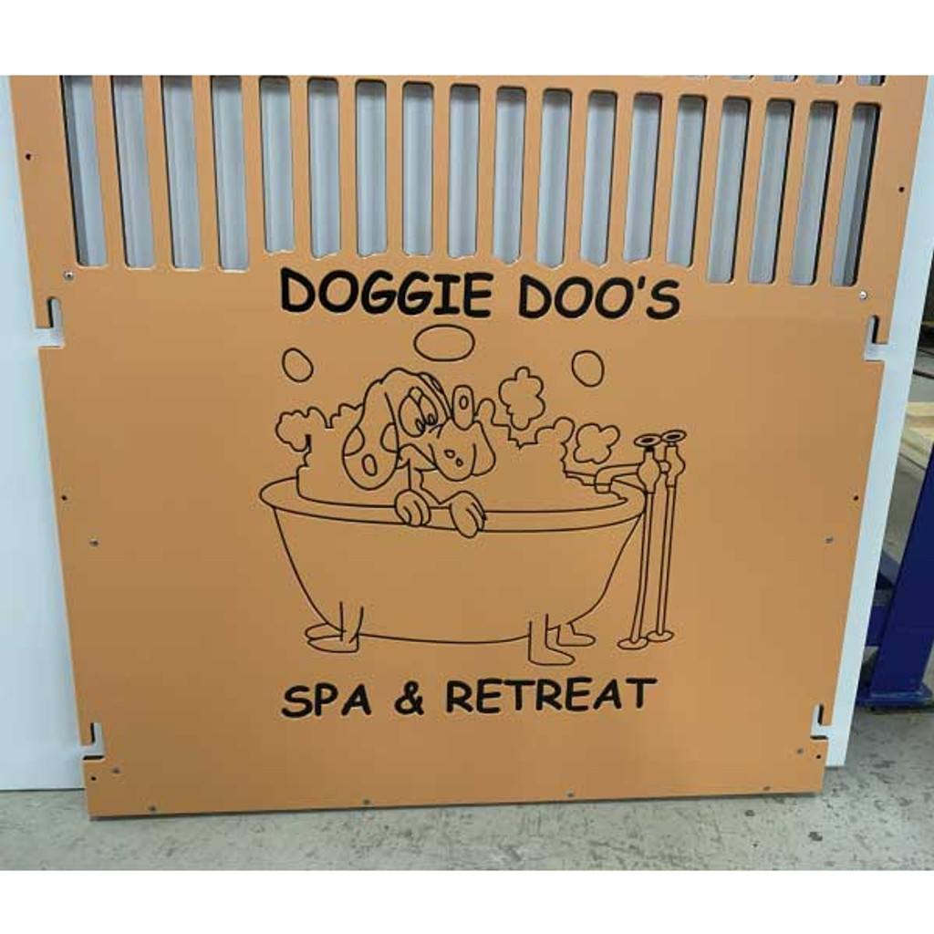 Doggie Doo's  Spa and Retreat custom logo.