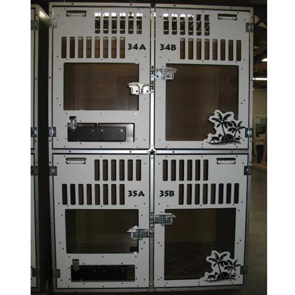 Gator Kennels Double Stack for Boarding unit for Elk Grove Pet Resort & Spa.