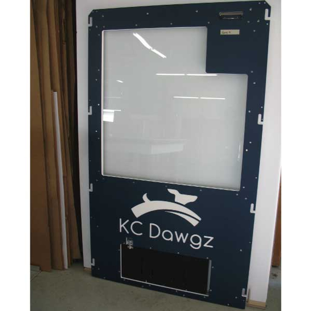 KC Dawgs Gator Kennel gates in navy blue.