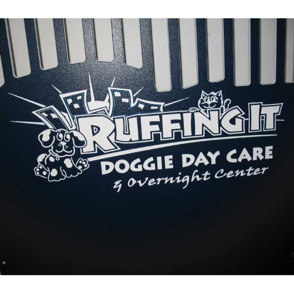 Ruffing It custom logo for Gator Kennels.