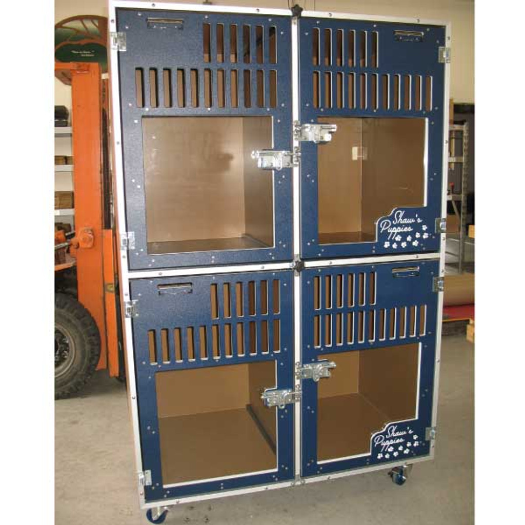 Shaw's Puppies Gator Kennels Double Stack unit.